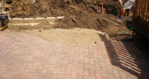 New Brick Patio Installation