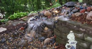 Pondless waterfall, Eagan, MN