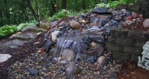 Pondless water feature, Eagan, MN