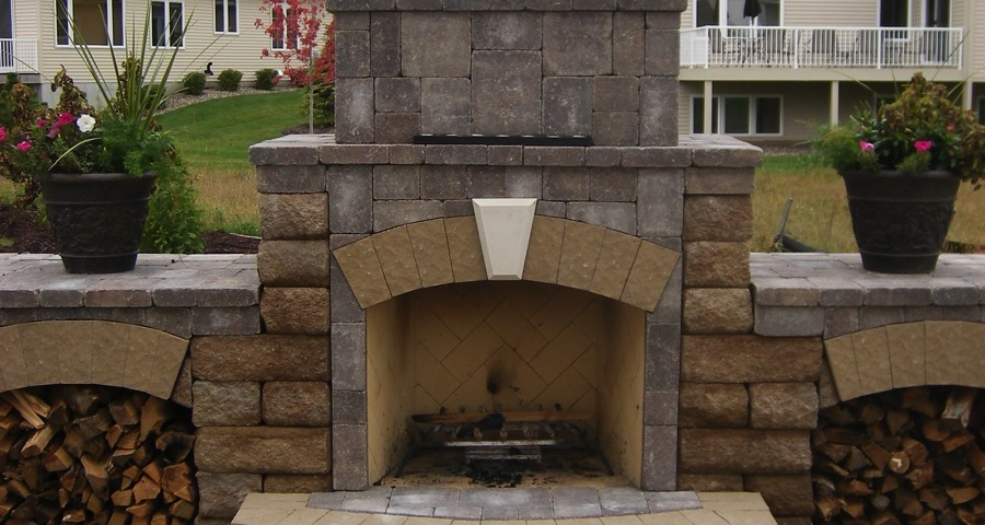 outdoor kitchen and fireplace. Outdoor Kitchens  Fireplaces APL Landscape Solutions