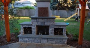 Outdoor fireplace in Bloomington