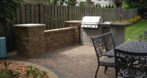 Outdoor Kitchen with Paver Patio in Edina, MN