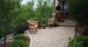 Brick Paver Sidewalk with Inlay in Orono, MN