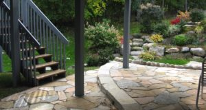Natural Stone Patio with Fondulac Step in Bloomington, MN