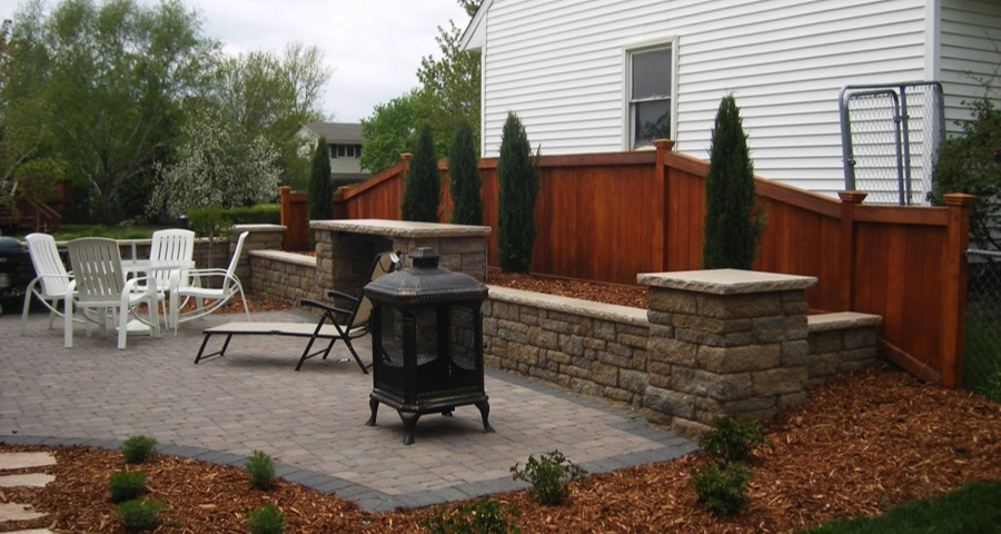 Travertine Patio And Retaining Wall, Mendota Heights, MN