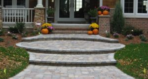 Brick paver front entry