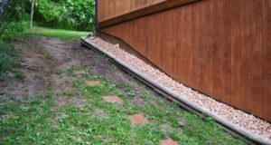 Stone Walkway Side View - Before