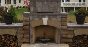 Close up view of Outdoor Fireplace
