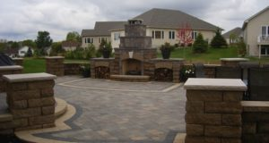 Patio Paver with Custom Design Inlay in Rosemount, MN