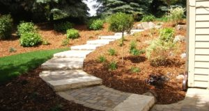 Natural stone steps and walkway, Bloomington, MN